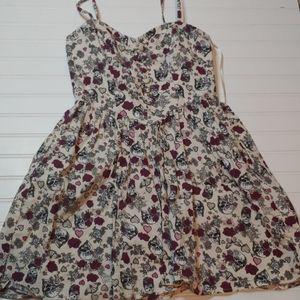 Hellbunny Poison Love Floral Dress w/POCKETS!